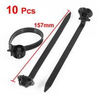 auto nylon parts - 7mm Width Black Nylon Teeth Push Mount Cable Tie Cord Auto Parts Fastener