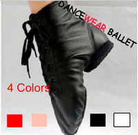 Wholesale High Quality Women Men Kids Children s Leather Black White Pink Red Jazz Shoes Sneaker Jazz Boots