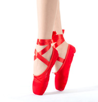 Wholesale On Sale High quality ladies Professional Ballet Pointe Dance Shoes With Ribbons