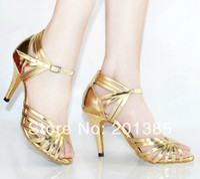 bachata latin dance - Women Dance Shoes Gold Leather Ballroom Shoes Dance Shoes Latin SALSA Bachata Dance Shoes Size