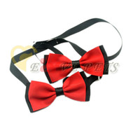 dog grooming bows - 50 Handmade Pet Dogs Accessories Red Ribbon Dog Headdress Hair Bows Grooming Bows V1022