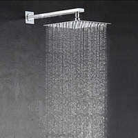 bathroom pipes - cm cm stainless steel Rainfall Shower head with arm bathroom shower with pipe square shower head bathroom accessories