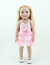 Wholesale 18 inch American girl toys for children brown eyes baby alive princess doll smiling girl doll lifelike special toys