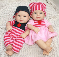 Wholesale 12 Inches cm Very soft Silicone vinyl mini reborn baby doll smiling girl and boy handmade lifelike lovely baby present