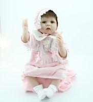 "Cheap 22"" Reborn Baby Dolls Silicone vinyl doll Soft Toys Dolls princess handmade Children's Day gift toys"