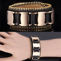 Wholesale Brand Genuine Resizable Leather Bracelet K Real Gold Plated Bangles For Men Women Fashion Jewelry Gift MGC H412