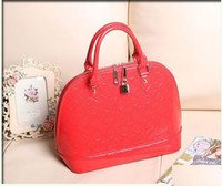 red patent leather handbag - new arrival women fashion zipper print patent leather handbag tote hot sale