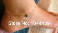Cheap Wholesale-Ankle bracelet, anklet, turquoise anklet, turquoise bracelet,gold anklet,foot jewelry,silver ankle bracelet, gold ankle bracelet