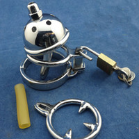 Wholesale Small Chastity Device Penis Head Ring bondage sexy super small round with anti slip ring metal male chasity devices
