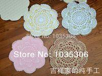 Wholesale Handmade Crochet doilies cm Crochet Cup mats cotton Crochet Coaster Disc pads table cloth decoration