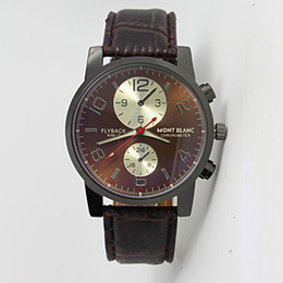 Wholesale 2014 the table top life water proof leather men s wear brand watches military watches sports watches for men
