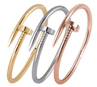 nail charms - New Titanium Steel Nail Bracelet Bangle Rose Gold Gold Plating My Love From The Star Bracelet By Yoon Eun Hye and Cheon Song Yi