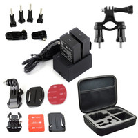 bicycle helmets for large heads - go pro Accessory kit Large Bag go pro bicycle mount Mounts Helmet fixed base hero3 plus battery charger for GoPro HD Hero
