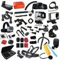 Wholesale DHL Full gopro accessories mount waterproof case Chest Tripod Floaty pole monopod for GoPro hero3 go pro hero sj4000