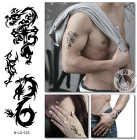 arm cross tattoo - Cross Dragon Temporary Tattoo wartproof stickers for men women arm hand back