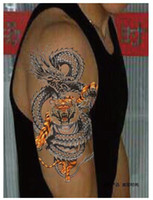 arm chest - hot Enter the Dragon large tattoo stickers men Arm wrist chest back leg Big d Temporary Tattoo stickers