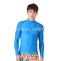 Wholesale Hot Solid Swimwear Men spandex Rash Wetsuit compression tights wears quick dry body suit Surf Rash Guard Men