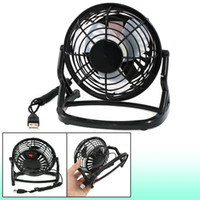 Wholesale Student Dormitory Summer Cooling Plastic Desk USB Mini Fan Inch Black