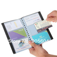 Wholesale Black Leather Cards Sheets Business Name Card Holder ID Credit Book Case Organizer Wallet Pouch Pocket