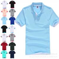Wholesale New Men s Brand Polo Shirt For Men Polos Men Cotton Short Sleeve shirt sports jerseys golf tennis
