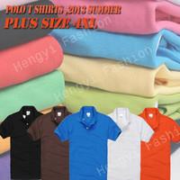 Wholesale Brand cheap Men polo shirts crocodile Camisas top quality Cotton tee tpos for mens camisetas plus size XXXL XL EMBROIDERY