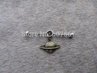 Wholesale Bronze Planet industrial barbell piercing Planet industrial barbell earring jewelry Planet ear jewelry