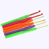 crochet hooks - 6pcs set Multicolor Plastic Crochet Hooks Needles mm Crochet Hooks Knitted Suit Weaving Tool Knitting Needle H12502