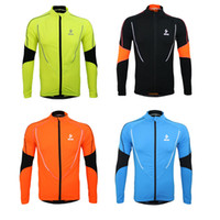 fleece clothing - Arsuxeo Fleece Winter Warm Running Fitness Men Cycling Jersey Clothing Outdoor Sports Bike Bicycle Jacket Wear Wind Coat H12708