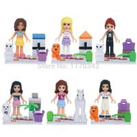 Wholesale Frozen Minifigures Girl Building Blocks Sets Model Classic Figure Toys Bricks
