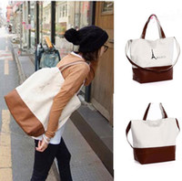 Wholesale Hot Womens Girls Fahion Paris Eiffel Tower Print Canvas Handbag Shoulder Bag