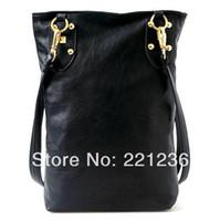 Cheap Wholesale-Free Shipping Fashion Punk Black Skull Face Designer Pu leather Handbag Women's Shoulder Bag,Lady Cross Body Bag