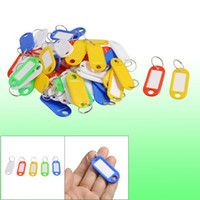 Wholesale 50 Assorted Color Key ID Label Tags Split Ring Keyring Keychain