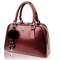 Wholesale REAL LEATHER High quality women s handbag serpentine pattern cowhide bride women s handbag