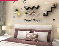 Wholesale SWEET HOME English letters decoration Personalized Wooden Name Plaques Word Letters D Wall sticker Door Art Wedding Photo Props