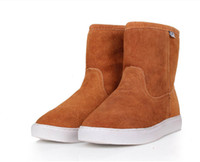 Wholesale New Soft bottom winter boots Australia Genuine leather buckle candy color Snow boots lovers shoes