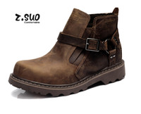 Wholesale Winter New z Suo Motorcycle Boots Cowboy Boots Fashion Boots Outdoor Boots Hot Brown Crazy Horse