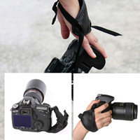 Wholesale Black Soft Leather Padded Wrist Strap Hand Grip for Nikon Canon Sony Olympus SLR DSLR Camera D1266