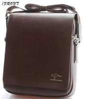Wholesale Authentic Kangaroo Kingdom Men s Genuine Leather PU Shoulder bag Black_M154S Small Size
