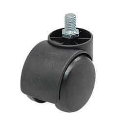 Wholesale Threaded Stem Connector Twin wheel Black Chair Caster Ajdcs