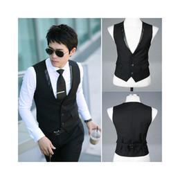 Wholesale New Arrival Men Suit Vest Slim Dress Vests Men s Fitted Leisure Waistcoat Casual Business Jacket Tops LC0832