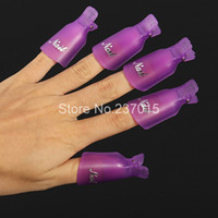 plastic wrap - Plastic Acrylic Nail Art Soak Off UV Gel Nail Polish Remover Wrap Clip Cap Nail Tools Remove