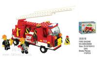 Cheap Wholesale-Gift Building Block Set SlubanB3000 fire truck Model Enlighten Construction Brick Toy Educational Toy for Children