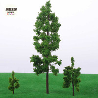 Wholesale Crab model tree sand table model green tower shape model tree highly
