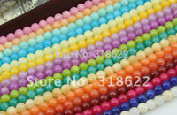 Wholesale DIY mm mm threads set Mix Color Fashion Natural Jade Round Losse Beads Semi precious Stones