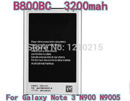 Wholesale Note B800BC battery for Galaxy Note III N9006 N9005 N9000 Battery Batterie Akku High quality