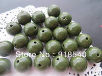Wholesale Navy Green Color Large MM Big Chunky Gumball Bubblegum Acrylic Solid Beads Colorful Chunky Beads for Necklace Jewelry