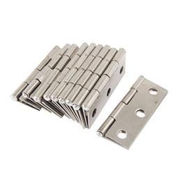 Wholesale 10 Silver Tone Metal Butt Hinge for Window Cupboard