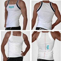 Wholesale Chinese market is very old high reputation sellers Fashion mens gym tank tops CR men s cotton vest gym mens sexy panties