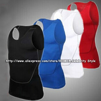 Wholesale J1006 Mens Body Compression Shirts Sports Wear Youths Base Layer Sleeveless Vest Under Thermal Tees Tank Tops Jerseys New