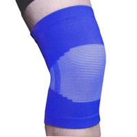 Wholesale White Striped Blue Elastic Knee Sleeve Support Brace